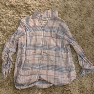pastel color flannel, barely worn, light weight